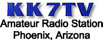 KK7TV Amateur Radio Station - Phoenix, Arizona